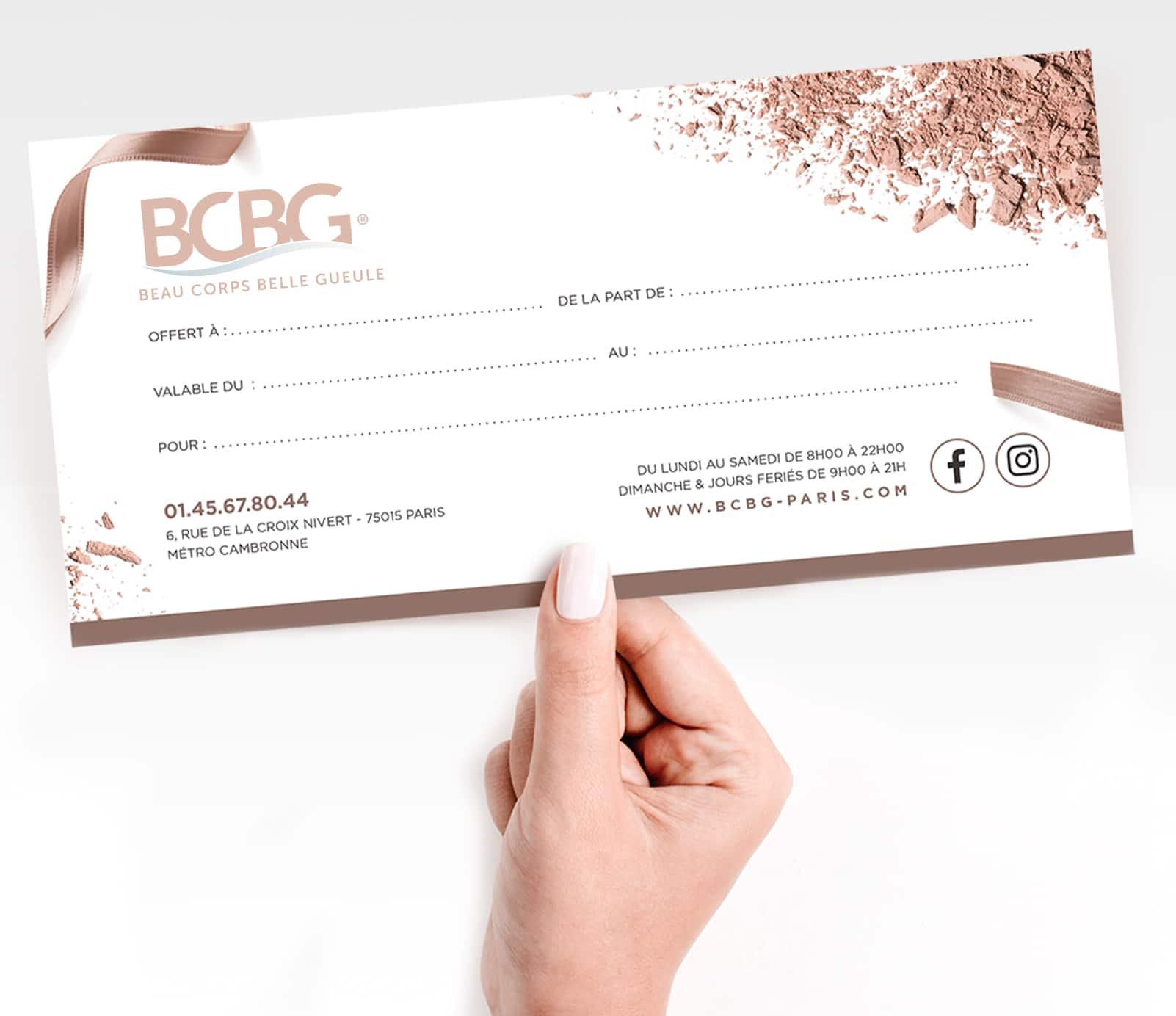Carte cadeau : offrir un moment de détente   découvrez le prix à Paris   BCBG